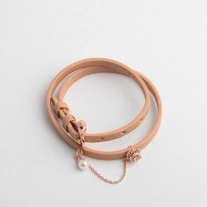 Henri Bendel Leather Collar Bracelet